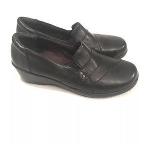 Clarks Slip On Wedge Loafers